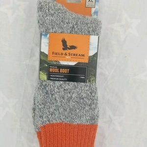 🤑$10.00 Sale Field & Stream 1 Pair WOOL BOOT Sock